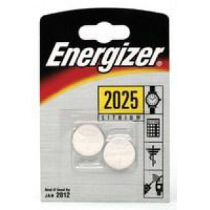 Energizer Special Lithium Battery 2025/CR2025 FSB2 Pack of 2 626981