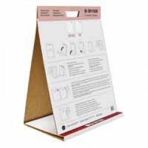 Bi-Office Table Top Self-Stick Flipchart Pad 20 Sheets White FL148303