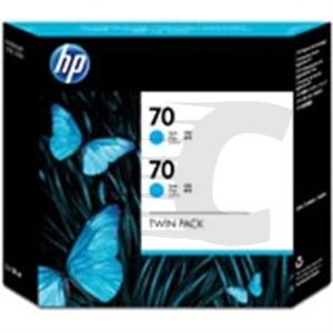 Hewlett Packard No70 Inkjet Cartridge 130ml Pack of 2 Cyan CB343A