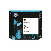 Hewlett Packard No70 Inkjet Cartridge 130ml Pack of 2 Red CB347A