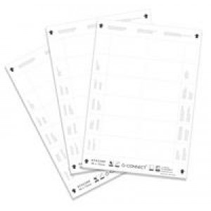 Q Connect Name Badge Inserts 40x75mm 25 Sheets x 12 Inserts KF02288
