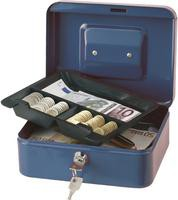 Q Connect Cash Box 8 inch Blue