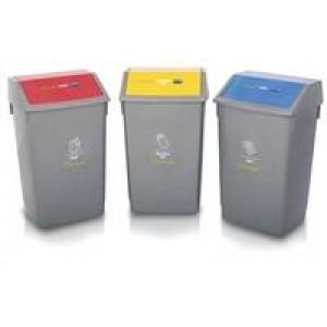 Addis Recycling Bin Kit Lids Metallic Pack of 3 505575