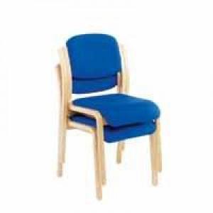 Sirius Wood Frame Side Chair No Arms Blue KF03512