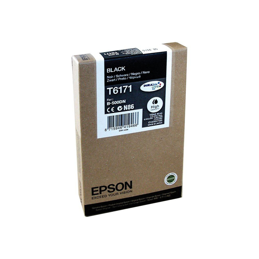 Epson B-500DN High Capacity Inkjet Cartridge Black C13T617100