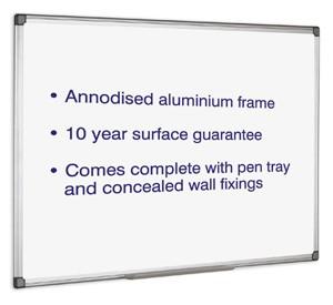 Initiative Magnetic Drywipe Board 900mm x 600mm KF01079