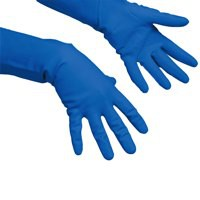 Vileda Multi-Purpose Gloves Medium Pack of 10 Blue 100157
