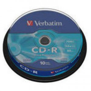 Verbatim CD-R Extra Protection Spindle Pack 10 Code 43437