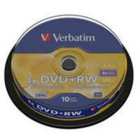 Verbatim DVD+RW Silver Non-Printable Spindle Pack of 10 43488