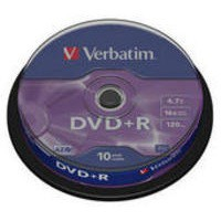 Image for Verbatim DVD+R 16X Non-Printable 43498