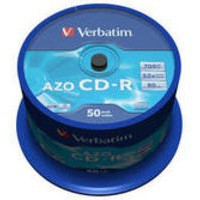 Verbatim CD-R 700Mb/80minutes Spindle Pack of 50 43343