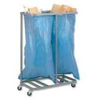Versapak Double Sack Holder Silver SH2SIL