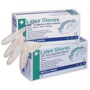 Wallace Cameron Latex Gloves Disposable Large Pack of 100 2603006