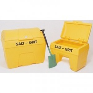 Salt/Grit Bin with Hopper Feed 200 Litre Yellow 317060