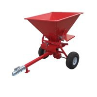 Winter 350lb ATV Spreader. 100cm(H) x 118cm(W) 71kg. Two-wheeled spreader with tow-hook.