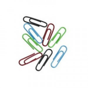 Clipper Paperclip Large Plain Pack of 100 Assorted
