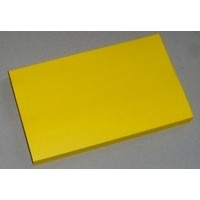 Yellow Note Repositionable Pad 75x125mm
