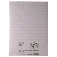 Memo Pad A4 Ruled Feint 80 Leaf (Pk 10)