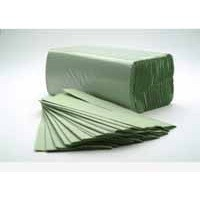 C-Fold Towel 1-Ply Green Pack of 184x16