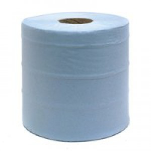 Centre Feed Roll 2-Ply 150 Metre Blue Pack of 6 WX43931