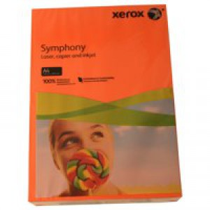 Xerox Symphony Paper A4 80gsm Deep Tints Orange Ream 003R93953